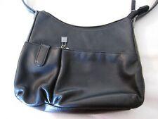 Misses' Black Leather Shoulder Bag/Purse - Worthington