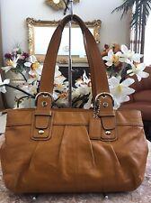 Coach Soho Pleated Yellow Leather Satchel Shoulder Handbag F13732 EUC, MSRP $378