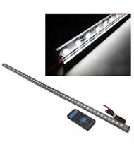 48 LED 5050 Impermeable Flash Knight Rider Tira Luces Coche con Control Remoto 56 cm Blanco