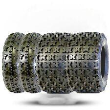 Set of 4 - GPS Gravity 22x11x9 & 22x7x10 6-Ply Warrior 350 ATV Front/Rear Tires