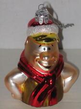 """Flintstones Barney Rubble Blown Glass Ornament Approx 3.5"""""""