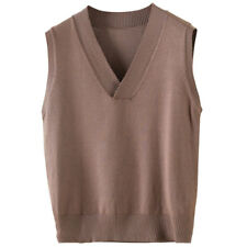 Womens Knit Sweater Vest Warm Pullover Knitwear Outwear sleeveless casual tops L