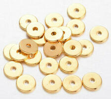 60 PCS 20MM POTATO CHIPS BRUSHED WAVY DISC 18K GOLD PLATED  H-25