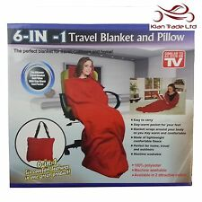 Cuddle Blanket Sleeves Pocket Soft Fleece Snuggle red Xmas Gift Sofa Christmas