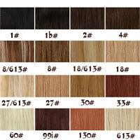 """16""""-28""""One Piece Full Head SetHair Extensions Clip in Human Hair Remy Straight"""