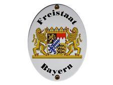 Bayern Freistaat Bayrisches Email Schild Fahne Emaille 11,5 x 15cm NEU
