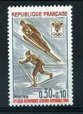 FRANCE 1968 timbre 1543, Jeux Olympiques, ski, neuf**