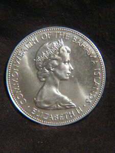 Bahamas 1973 $5 STERLING SILVER Coin 925/1000 Beautiful & Big Stack Or Collect