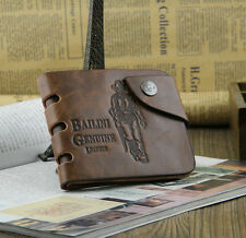 Vintage Style Bailini Hunter Men Leather Bifold Wallet.