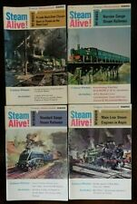 Trains Illustrated, Steam Alive! Magazines x 4, Early 1970s by Ian Allan 9,10.11