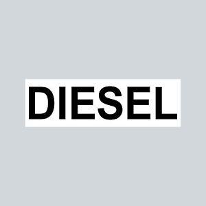 Aufkleber 6,5cm Sticker DIESEL Kraftstoff Tanken Auto Tank Tankdeckel Hinweis