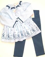 NWT Janie & Jack SWEET SOPHISTICATION 3 Outfit Blue Swing Top Pants Bow Sweater!