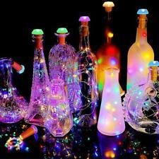 6pcs Wine Bottle Lamp 9 LED Cork Shape Light Waterproof Colorful String Lights