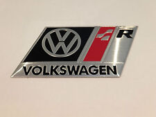 VOLKSWAGEN R LINE BADGE EMBLEM (black) - fits VW GOLF GTI VR6 R32 MK 2 3 4 5 TDI