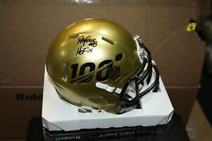 RAIDERS RAY GUY #8 SIGNED RIDDELL SPEED NFL 100 MINI HELMET HOF 2014 RARE