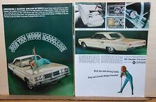 1965 two page magazine ad for Dodge - 1966 Coronet 500, Break Away from Everyday