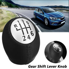 6 Speed R Gear Shift Knob For Renault Megane Clio Laguna Trafic For Opel
