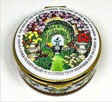 Staffordshire English Enamels Box - God'S Garden - Flowers - Gardening - Poetry