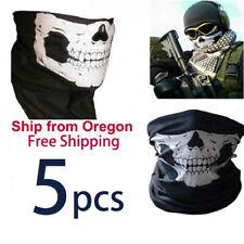 5 Ghost Biker Skull Hood Face Mask Motorcycle Ski Balaclava CS Sport Helmet