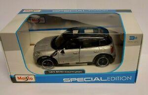 1:24 Scale Mini Countryman Cooper Diecast Maisto Model Silver
