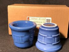 Longaberger Woven Traditions Cornflower Candle Votives Set Of Two