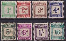 SOLOMON IS 1940 Postage Due set fine used...................................5654