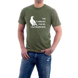 The Flanders Pigeon Murderer T-shirt. Blackadder Speckled Jim Parody Tee.