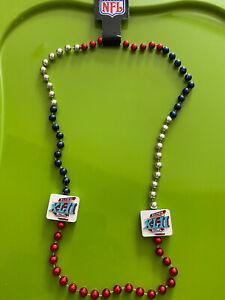 NEW New York Giants NFL Football Necklace Super Bowl XLII 42 - Mardi Gras Beads
