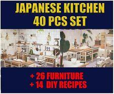Japanese Kitchen Set All 40 Pcs Furnitures+Diy Recipes Animal:Crossing Cheap