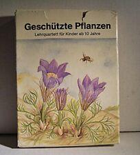 """02 183 DDR Lehrquartett """"Geschützte Pflanzen"""""""