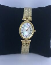 Rotary Ladies Watch ,Roman Number, MoP, Gold Plated, Women's, LB00455