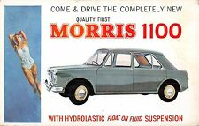 POSTCARD   ADVERTISING  MOTOR  CARS    MORRIS    1100