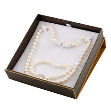 "Boxed 7-8mm white freshwater 18"" pearl necklace, 7¼"" bracelet and studs SET-C"