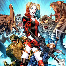 HARLEY QUINN Tony Daniel ART PRINT * SUICIDE SQUAD #29 Cover SIGNED Danny Miki