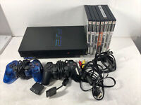 Sony PlayStation 2 PS2 Original Fat Console Bundle! 2 Controllers! 7 Games!