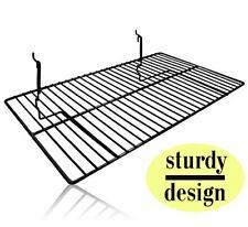 """Only Hangers Black Wire Slatwall / Gridwall Shelf 24""""L x 12""""D"""