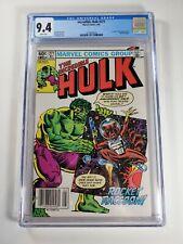 Incredible Hulk #271 CGC 9.4 Newsstand! 1982 2nd app. Rocket Raccoon