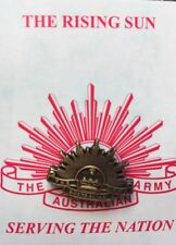 Army Lapel Pin Brass On Card 20MM *ANZAC Day* Remembrance Day*