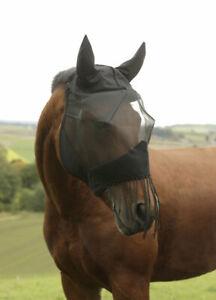 Fliegenmaske mit Ohrenschutz und Nüsternkordel Pferdeschutz Pferd