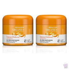 PACK OF 2 Avalon Organics Intense Defense Oil-Free Moisturiser 2x57g