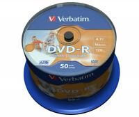 50 DVD -R PRINTABLE VERBATIM AZO 16x vuoti stampabili DVDR FULL PRINT 43533