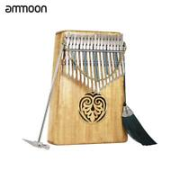 Thumb Piano 17 Keys Solid Wood Finger Piano With Carry Bag Music Book Musical Sc