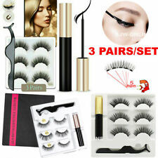 Magnetic liquid Eyeliner+5 Magnetic False Eyelashes Easy to Wear Lashes Sets Mix