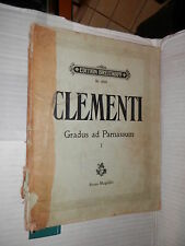 GRADUS AD PARNASSUM Volume Primo Muzio Clementi Bruno Mugellini Breitkopf 1920