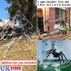 Halloween Large Spider Net Giant Garden Spiders Web Party Decor Prop Artificial