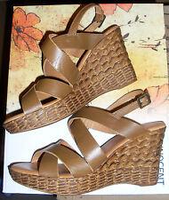 2960# Maripe Schuhe festliche Leder Sandalen Größe 355  Beige Orangegold Keil