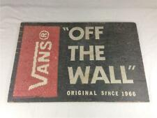"Vans Shoes ""Off The Wall"" Wooden Store Sign Display 18"" x 26"""