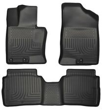 For 2011-2015 Kia Optima Husky WeatherBeater Front & 2nd Row Black Floor Liners