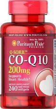 Puritan's Pride Q-SORB CoQ10, CO Q-10, CoQ-10 200mg 240 Softgels **Made in USA**