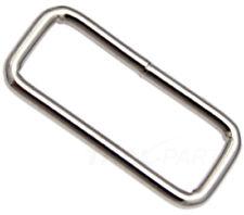 10 Stück Schlaufen 22mm x 8 x 3,0 Rund Stahl, vernickelt - Schlaufe für Gurtband